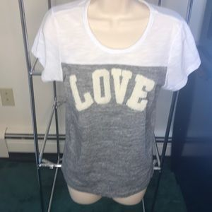 Relfex Grey and white LOVE t-shirt 3D M